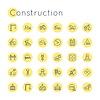 Round Bau Icons