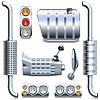 Chromed Truck Parts Set  | Stock Vector Graphics