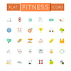 Wohnung Fitness Icons