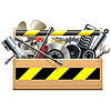 Векторный клипарт: Инструменты с автозапчасти
