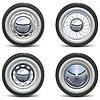 Векторный клипарт: Ретро автомобилей Колеса