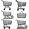 Векторный клипарт: Супермаркет Корзина Пиктограмма
