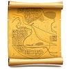 Papierrolle mit Karte