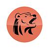 Bärenkopf-Symbol | Stock Vektrografik