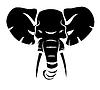 Słoń głowy | Stock Vector Graphics