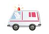 Ambulans samochód samodzielnie | Stock Vector Graphics