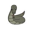 graue Cartoon-Schlange