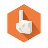 Cubic zeigende Hand | Stock Vektrografik