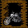 Motorrad, Chopper brechen Mauer