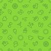 Sommer und Urlaub Grüne nahtlose Muster