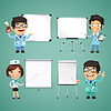 Ärzte mit Whiteboard-Set