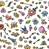 Bunte lustige Old School Tattoo Seamless Pattern
