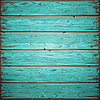 Aquamarine Old Wooden Painted Wall | Stock Vector Graphics