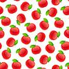 Векторный клипарт: Бесшовный узор с яблоками