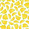 Векторный клипарт: Бесшовные фона с бананами