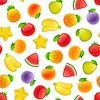 Векторный клипарт: Бесшовные с фруктами
