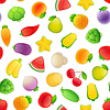 Векторный клипарт: Бесшовные шаблон с фруктами и овощами