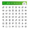 American Football Line-Icons Set