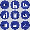 Infografik-Elemente. Kuchendiagramm. Angebote für Geschäftsreisende | Stock Vektrografik
