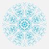 Abstrakte Gestaltung von kreisförmigen Muster. Runde Mandala | Stock Vektrografik