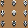 Schwarz-Weiß-Ikonen Computer-Icons. isometrisch | Stock Vektrografik