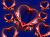 Sind einige abstrakte Herzen auf blauem Hintergrund | Stock Illustration