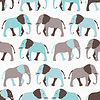 Bez szwu deseń zwierząt słoń | Stock Vector Graphics