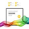 Streszczenie kolorowe fale z ramą | Stock Vector Graphics