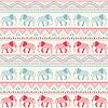 Tier nahtlose Muster der Elefanten