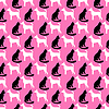 Tier nahtlose Muster von Katze und Hund Silhouetten