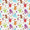 Zabawne kolorowe Children szwu | Stock Vector Graphics