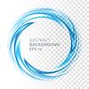 Streszczenie niebieski wirowa okręgu na przezroczystym tle | Stock Vector Graphics