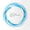 Abstract blue Swirl Kreis auf transparentem Hintergrund | Stock Vektrografik