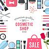 Profesjonalnej jakości kosmetyki sklep | Stock Vector Graphics