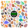 Big set of cute cartoon animal icons | Stock Vector Graphics