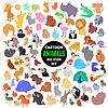 Große Reihe von niedlichen Cartoon-Tier-Ikonen