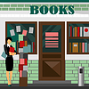 Bookstore mall. Books shop building | Stock Vector Graphics