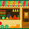 Fruits and vegetables shop | Stock Vector Graphics