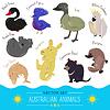 Set von niedlichen Cartoon australischen Tier Symbol
