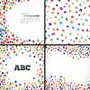 Streszczenie czarny alfabet ozdoba ramki | Stock Vector Graphics