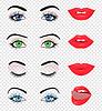 Векторный клипарт: Красота женского глаз и губ