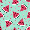 Nette nahtlose Muster Wassermelone