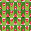 Vektor Cliparts: Nette nahtlose Muster Wassermelone