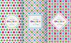 Vektor Cliparts: Helle bunte nahtlose Muster für Baby-Stil