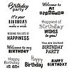 Векторный клипарт: С Днем Рождения текст типографика