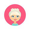 Векторный клипарт: Женское лицо аватар профиль головы