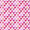 Векторный клипарт: Симпатичные блестящие бесшовные модели сердца