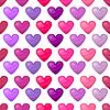 Cute shiny seamless heart pattern | Stock Vector Graphics