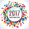 Vektor Cliparts: 2017 Happy new year Hintergrund
