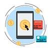Online-Banking, Mobile Payment, Geldtransfer-Konzept